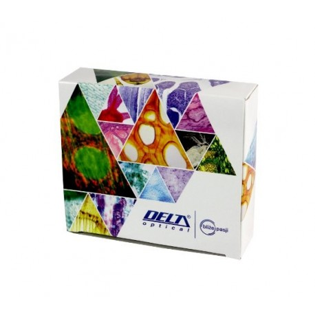Biological prepared microscope slides 25 pcs Slides Delta Optical