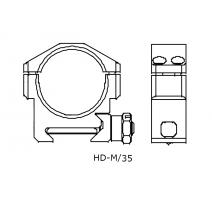 IOR HD-M/35 laikiklis Taikiklių montavimui IOR