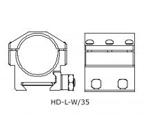 IOR HD-L-W/35 laikiklis Taikiklių montavimui IOR